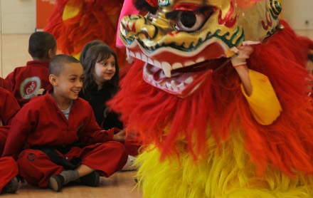 Lion Dance with the Confucious Institute